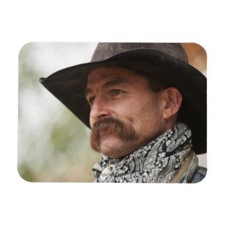 Cowboy 16 rectangular photo magnet
