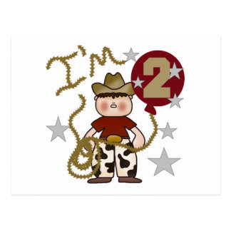 Cowboy 2nd Birthday T-shirts and Gifts Postcard