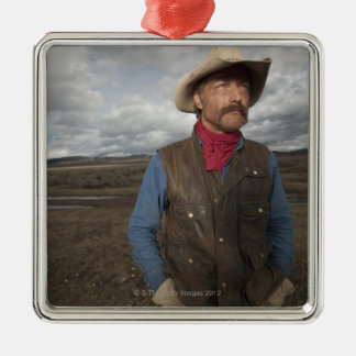 Cowboy 3 christmas ornament
