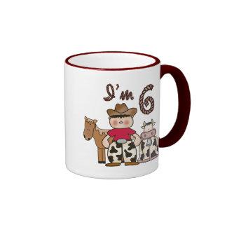 Cowboy 6th Birthday Ringer Mug