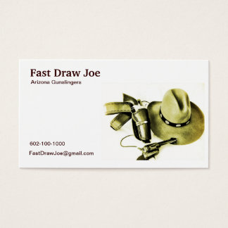 Cowboy Action Shooting Fast Draw Business Card