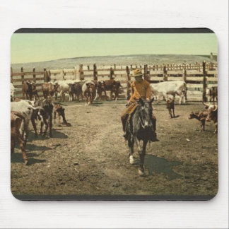 Cowboy and Cattle Mouse Pads