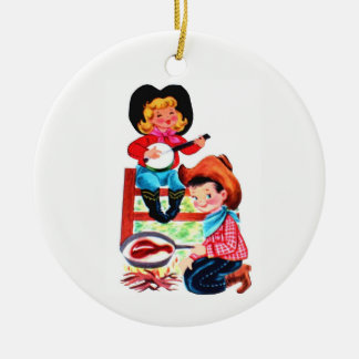 Cowboy and Cowgirl Christmas Ornament