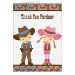 Cowboy and Cowgirl Note Cards Cards