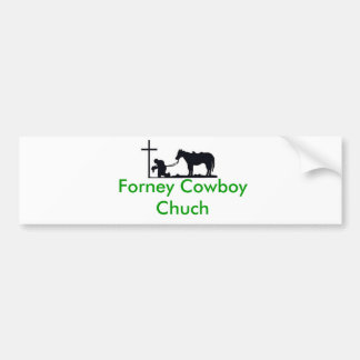cowboy_and_cross, Forney Cowboy Chuch Bumper Sticker
