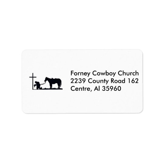 cowboy_and_cross, Forney Cowboy Church2239 Coun... Address Label