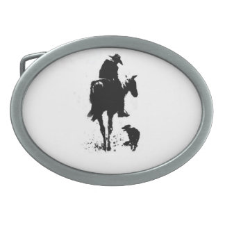 Cowboy and Dog Belt Buckle