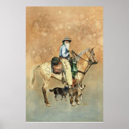Cowboy and his Appaloosa Poster