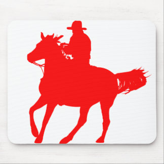 Cowboy and his horse mouse mat