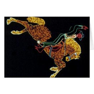 Cowboy and Horse Greeting Card
