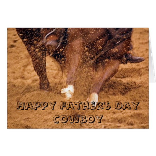 Cowboy and Horse Father's Day Card