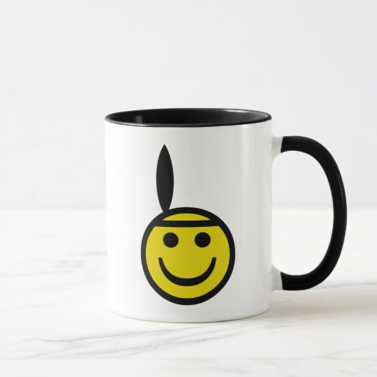 Cowboy and Indian Smiley Mug