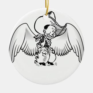 Cowboy Angel Christmas Ornament
