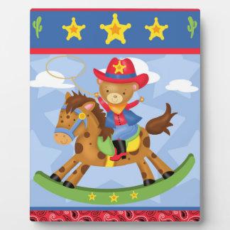 Cowboy Art Easel Plaque