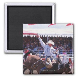 Cowboy at a Rodeo Fridge Magnets