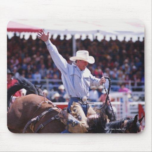Cowboy at a Rodeo Mousepads