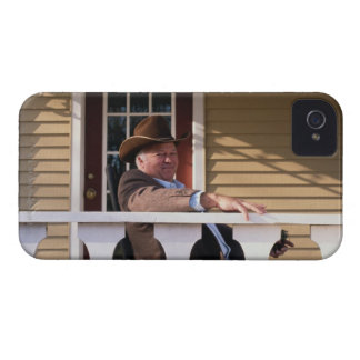 Cowboy at Home iPhone 4 Case-Mate Cases