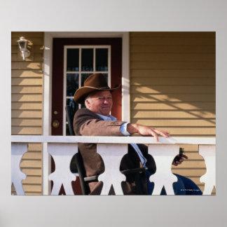 Cowboy at Home Poster