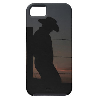 Cowboy at sunset iPhone 5 cover