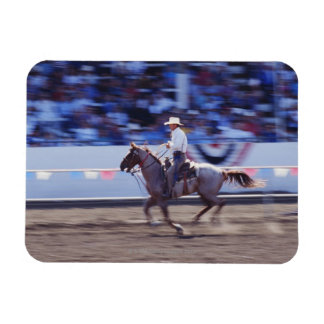 Cowboy at the Rodeo Rectangular Photo Magnet