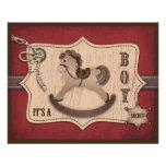 Cowboy Baby Advice Card Personalized Flyer