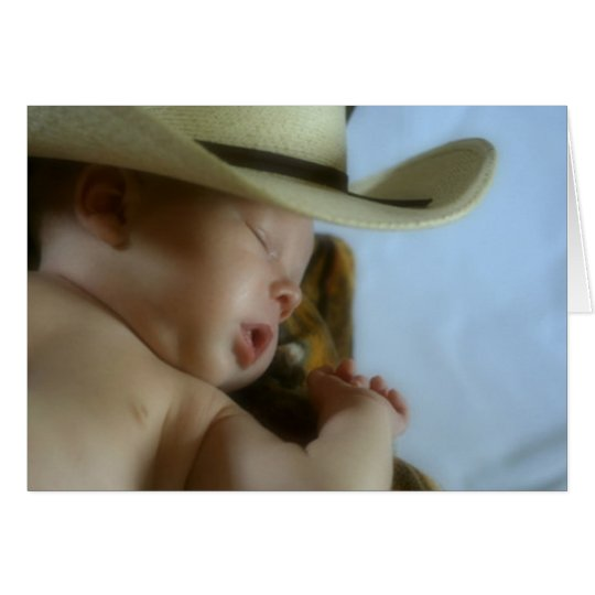 Cowboy Baby Greeting Card