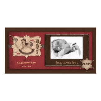 Cowboy Baby Photo Card