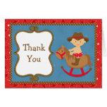 Cowboy Baby Thank You Card