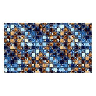 Cowboy Bandana Blue Mosaic Pattern Original Art Pack Of Standard Business Cards