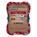 Cowboy Bandanna Jumper Baby Shower 13 Cm X 18 Cm Invitation Card