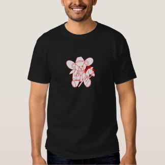 Cowboy Bear Redwork T-shirt