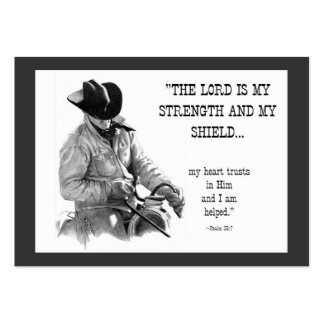 COWBOY, BIBLE TEXT: PENCIL: ACEO SIZE PACK OF CHUBBY BUSINESS CARDS