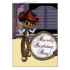 """Cowboy Birthday Cards"" Card"