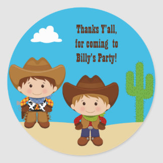 Cowboy Birthday Party Sticker