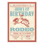 Cowboy Birthday Rodeo Party Invitations