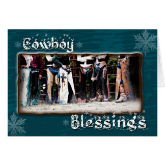 Cowboy Blessing Christmas Greeting Card
