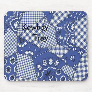 Cowboy Blue Bandana Mousepad