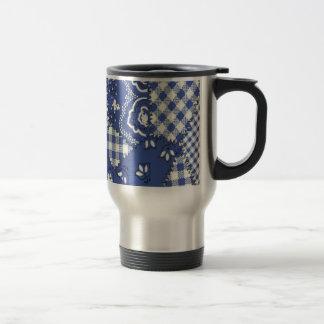 Cowboy Blue Stainless Steel Full Wrap Travel Mug