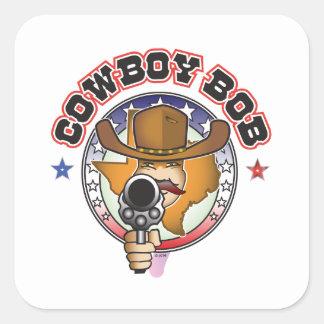 COWBOY BOB SQUARE STICKER