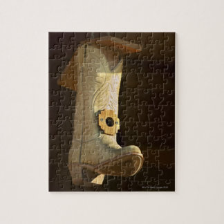 Cowboy boot bird house jigsaw puzzle
