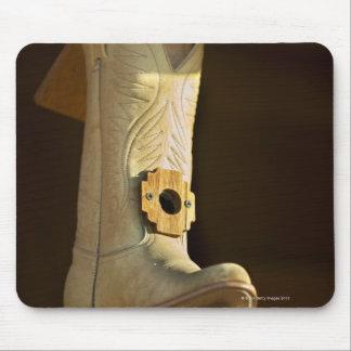 Cowboy boot bird house mouse mat