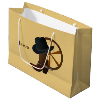 Cowboy Boot Design LGB Large Gift Bag