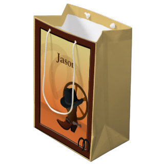 Cowboy Boot Design MGB Medium Gift Bag