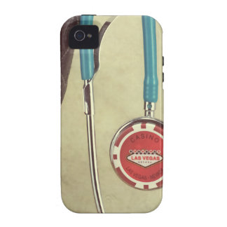 Cowboy Boot Doctor Stethoscope Casino Chip Nurse Vibe iPhone 4 Cover