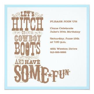 Cowboy Boot Invitation