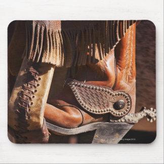 Cowboy boot mouse mat