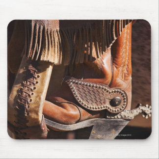 Cowboy boot mouse pad