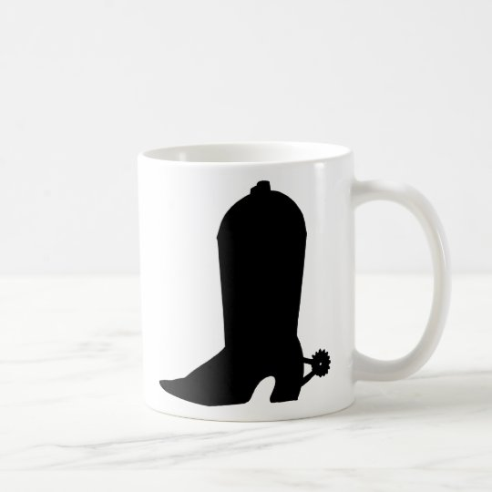 Cowboy Boot Silhouette Coffee Mug
