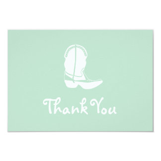 Cowboy Boot Thank You Note Cards (Sage Green) Invitations