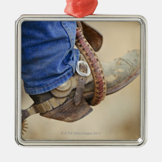 Cowboy boot with spur 2 christmas ornament